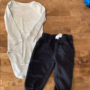 Long sleeve onesie and jogger set